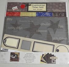"""Scrapbooking Theme Pack - Nut Brown - Colours of the Orchard - 12x12"""" Papers Etc"""