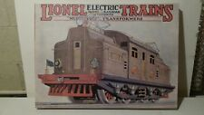LIONEL ELECTRIC TRAINS AND MODEL RAILROAD ACCESSORIES DISPLAY CANVAS W/ HANGER
