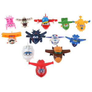 4/8/12Pcs Animation Super Wings Transforming Plane Toy Robot Kids Gift