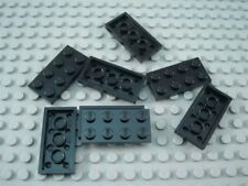 New LEGO Lot of 8 Black 2x4 Plate Pieces