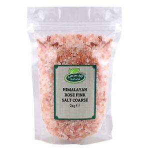 Himalayan Rose Pink Crystal Salt Coarse 2kg Food Grade