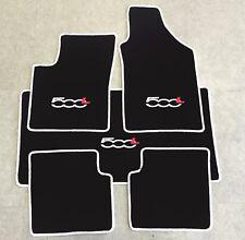Autoteppich Fußmatten Kofferraum Set für Fiat 500L ab 2012' weiss rot 5tlg. Neu