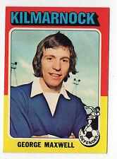 Topps like A&BC Scottish Football Card 1975 Blue Back #75 Maxwell Kilmarnock