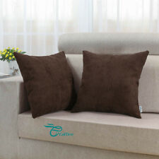 "2Pcs Pillow Covers Cases Home Decor Comfortable Corduroy Stripes 20""x20"" Coffee"