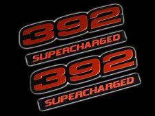 VMS 2 CHRYSLER DODGE 392 SUPERCHARGED HEMI ENGINE EMBLEM RED BLACK