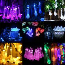 Water Drop Solar Fairy String Light Outdoor Garden X'mas Tree Decor 7 COLORS