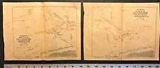 "2 Maps World War 1 ""Battle at Heligoland Bight"" 1st Naval in WW1 Antique WWI"