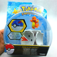 New arrival Bounce Pokeball with Pokemon figure toys Charmander poke ball TOMY
