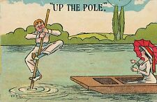POSTCARD  COMIC  Boating Related  Up the Pole