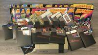 Original Nintendo NES LOT OF 29 GAMES TESTED & 29 NINTENDO POWER MAGAZINES