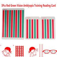 3Pcs Red Green Vision Myopia Strabismus Amblyopia Training Reading Disinhibit rd