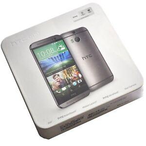 BNIB HTC One M8 16GB Gunmetal Gray Factory Unlocked Genuine 2G 3G 4G OEM