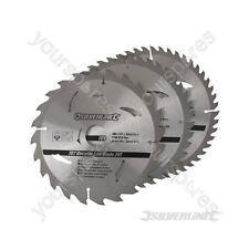 Hojas De Sierra Circular TCT 24, 40, 48 T 3pk - 200 X 30 - 25, 18, 16 mm Anillos
