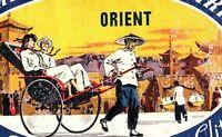 1940's-50's Pan American Airways Orient Luggage Label Vintage Original E31