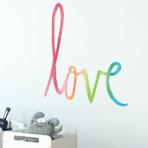 """Wall Sticker Removable PVC Vinyl Simple style Multicolor """"Love"""" Decal Home Decor"""