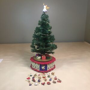 Vintage Avon Advent Tree Music Box Christmas Lights Angel Ornaments COMPLETE!