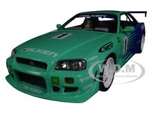 1999 NISSAN SKYLINE GT-R (R34) #1 FALKEN TIRES 1/18 DIECAST CAR GREENLIGHT 19050