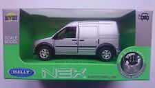 WELLY FORD TRANSIT CONNECT SILVER 1:34 DIE CAST METAL MODEL NEW IN BOX