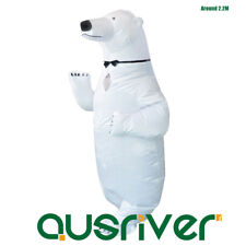 Novelty Toys Men Inflatable Polar Bear Costume Halloween Christmas Gift Outfit