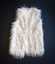 IMMACULATE girls 'NEXT' GILET Age 11 FAUX FUR..BOHO-HIPPIE….LOOKS NEW