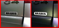 BRABUS 3D domed light reflecting sticker badge 80mm (3.2inch) lenght