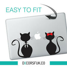 Gatti MacBook adesivi in vinile nero | Laptop Adesivi | MacBook PETS Decalcomania