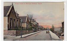 WILLIAM STREET AND MUNICIPAL BUILDINGS, TAYPORT: Fife postcard (C10243)
