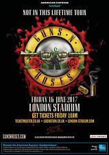 Guns N Roses Not In This Lifetime Tour 2017 London Stadium Poster (Not Tickets)
