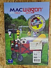 Mac Folding Wagon Red w/ Folding Table, Holds up to 150 lbs. New Sealed Box