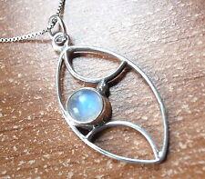 Moonstone Pendant  925 Sterling Silver New Corona Sun Jewelry New Blue