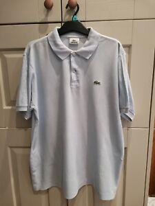Lacoste polo men's shirt, pale blue, size M. Fast Post!