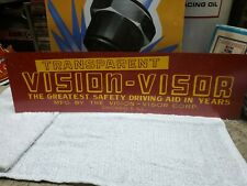 Vintage Vision Visor Metal Sign Gas Oil Country Store Auto