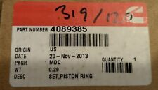 GENUINE CUMMINS ISM PISTON RING SET 4089385 COMPLETE SET OF (6)
