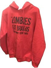 Zombies Sweat Shirt Color Red Size Small Unisex