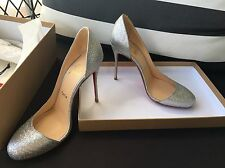 Christian Louboutin Glitter Helmour Heels Shoes - Size 6.5