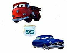 """2"""" DISNEY CARS MCQUEEN RED  MINI SET  PEEL STICK WALL BORDER CUT OUT CHARACTER"""