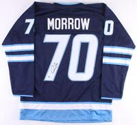 Joe Morrow Signed Winnipeg Jets Jersey (Beckett) 1st Round Pick 2011 NHL Draft