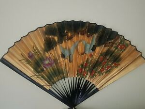 Large oriental decorative wall fan gold The Pier