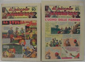 """Cartonato n° 1 e 2 """"Il piccolo avventuroso n° 1/43"""" ristampa marzo e giugno 1975"""