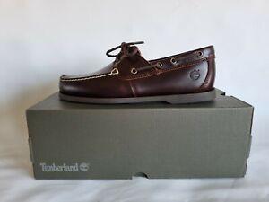 Timberland Cedar Bay Brown Leather Boat Shoe Uk11.5 Eu46 rrp£110