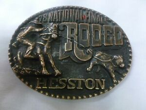 1978 National Finals Rodeo Hesston Adult Belt Buckle