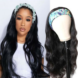 26inch Long Black Curly Wave Headband Wig For Women Synthetic Hair Wigs