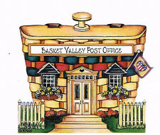 Brandywine Collectible BASKET VALLEY: POST OFFICE - Wooden Shelf Sitter