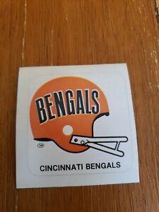 Vintage Cincinnati Bengals 1978 NFL Helmet Logo MAKbac Sticker Indianapolis