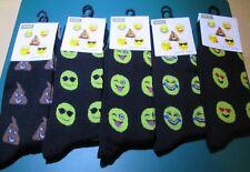3 Pairs Woman/Teens/Unisex Emoji  Gym Sports Trainer Ankle Socks UK Size 4-8