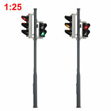 2pcs G Scale Model Traffic Signals 5-LEDs 1:25 Block Signal 14.5cm Traffic Light