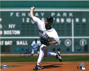 """Curt Schilling Boston Red Sox Autographed 16"""" x 20"""" Pitching Photograph"""