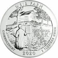 2020 America The Beautiful Weir Farm 5 oz Coin
