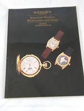 Sotheby's Watches Clocks - Auktion Katalog - auction catalogue - Uhren 1998