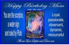 PERSONALISED ZODIAC SCORPIO STAR SIGN BIRTHDAY YANKEE CANDLE JAR LABEL anyNAME